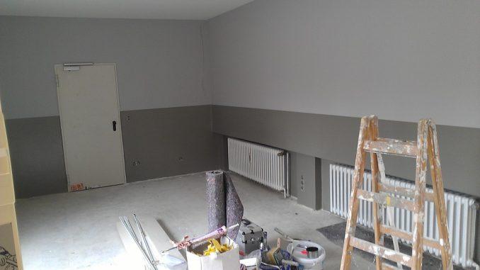 des travaux de rénovation dans une maison